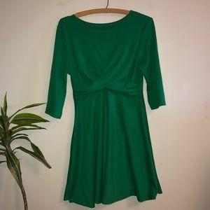 Kelly Green Fit & Flare Dress